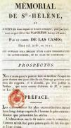 First page of 'Memorial de Sainte-Helene' by French School