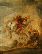 Bellerophon Riding Pegasus Fighting the Chimaera 1635 by Peter Paul Rubens