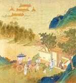 Emperor Wu Ti welcoming a man of letters by China