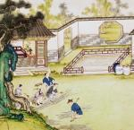 Gathering bamboo to make paper by Art du Japon