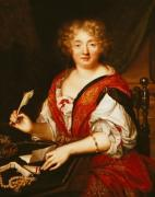 Portrait of Madame de Sevigne Writing by French School