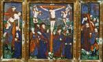 Triptych depicting the Crucifixion Limousin by Nardon Penicaud