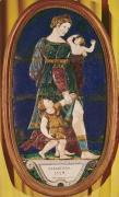 Plaque depicting Charity Limousin 1559 by Courteys Pierre