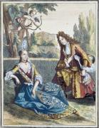 A Woman Seated on the Grass by Bonnart Family of Engravers