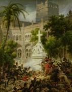 Assault on the Monastery of San Engracio in Zaragoza 1827 by Louis Lejeune