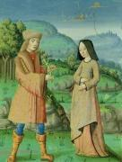 Meeting of Aeneas and Anne the sister of Dido 1469 by French School
