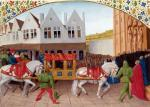 Arrival of Emperor Charles IV at the Basilica St. Denis by Jean Fouquet