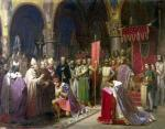 Louis VII the Young King of France Taking the Banner in St. Denis by Jean Baptiste Marie Mauzaisse