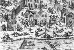 The Massacres of Sens 1562 by French School