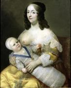 The Dauphin Louis of France and his Nursemaid c.1638 by Charles Beaubrun