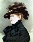 Portrait of Mery Laurent 1882 by Edouard Manet