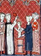 A Baptism Scene from 'Decrets de Gratien' by French School