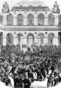 The 'Corbeille' at the Paris Bourse 1873 by French School