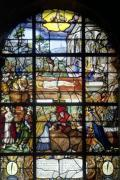 Window depicting the Mystic Wine-Press 1612 by French School