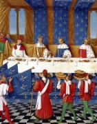 Banquet given by Charles V in honour of his uncle Emperor Charles IV by Jean Fouquet