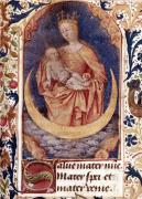 The Virgin and Child from 'Heures de l'Usage de Rome' c.1465 by Jean Fouquet