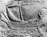 A Phoenician trade ship at Sidon detail from a sarcophagus by Roman Art