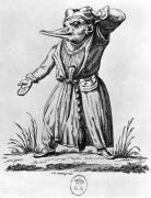 A Monster from 'Les Songes Drolatiques de Pantagruel' by Claude Nicolas Malapeau