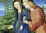 Courting Couple from a Book of Hours by French School
