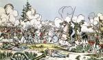 The Battle of Moscow 1812 by French School