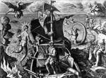 Ferdinand Magellan on board his caravel 1522 by Jan van der Giovanni Stradano Straet
