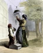 The Lamplighter from 'Les Femmes de Paris' 1841 by Alfred Andre Geniole