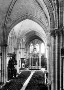 Interior view of the nave and the choir c.1150 by French School
