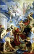 The Stoning of St. Stephen from the Triptych of St. Stephen by Peter Paul Rubens