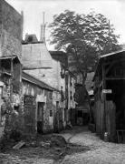 Courtyard at rue Larrey 8 Paris 1858 by Charles Marville