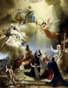 Allegory in Honour of the Birth of Henri de France by Jean-Charles Tardieu