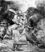 The Sacrifice of Abraham 1645 by Rembrandt