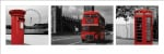 London (Red Tripych) by Anonymous