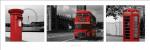 London (Red Tripych) by Slim