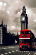 London Red Bus by Celebrity Image
