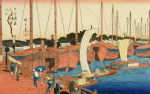 Mouth of Ajikawa, Osaka by Ando Hiroshige