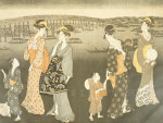Walking at night in Yedo by Kitagawa Utamaro