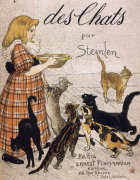 Cover, Of Cats (Des Chats) by Theophile-Alexandre Steinlen