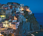 Hillside town overlooking the Mediterranean sea, Manarola Italy by Danita Delimont