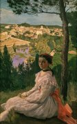 Vue de village (view of Castelnau village, France), 1868 by Jean Frederic Bazille