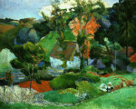 Landscape, Pont-Aven, Brittany, France, c. 1886 by Paul Gauguin