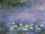 Water lilies, water study, morning, c. 1914 by Claude Monet