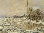the spring thaw by Claude Monet