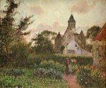 The Church at Knocke, 1894 by Camille Pissarro