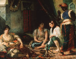 Women of Algiers, c. 1834 by Ferdinand Victor Eugene Delacroix