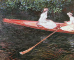 Boating on the River Epte, 1890 by Claude Monet
