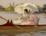 On the Thames, 1878 (Detail) by Giuseppe de Nittis