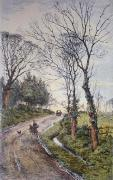 Pinner Hill (Restrike Etching) by Frederick Albert Slocombe
