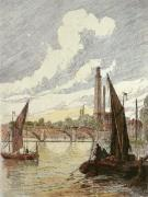 Kew Bridge (Restrike Etching) by Gordon