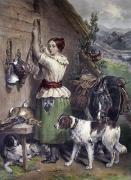 Gamekeeper's Daughter (Restrike Etching) by Frederick C. Taylor