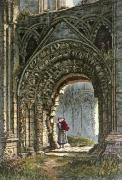 St Joseph's Glastonbury (Entrance) (Restrike Etching) by Charles Bird